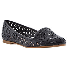 Buy Dune Londres Laser Cut Leather Flats Online at johnlewis.com