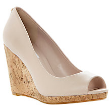 Buy Dune Celia Peep Toe Platform Wedges Online at johnlewis.com