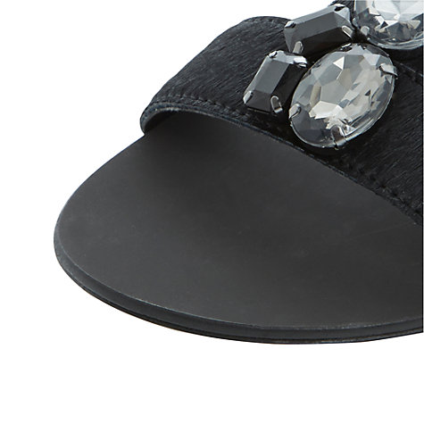 Buy Steve Madden Habtat-S Chunky Crystal Pony Hair Effect Flat Sandals, Black Pony Online at johnlewis.com