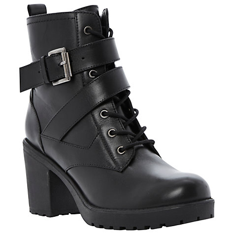 Buy Dune Preeesha Leather Ankle Boots, Black Online at johnlewis.com