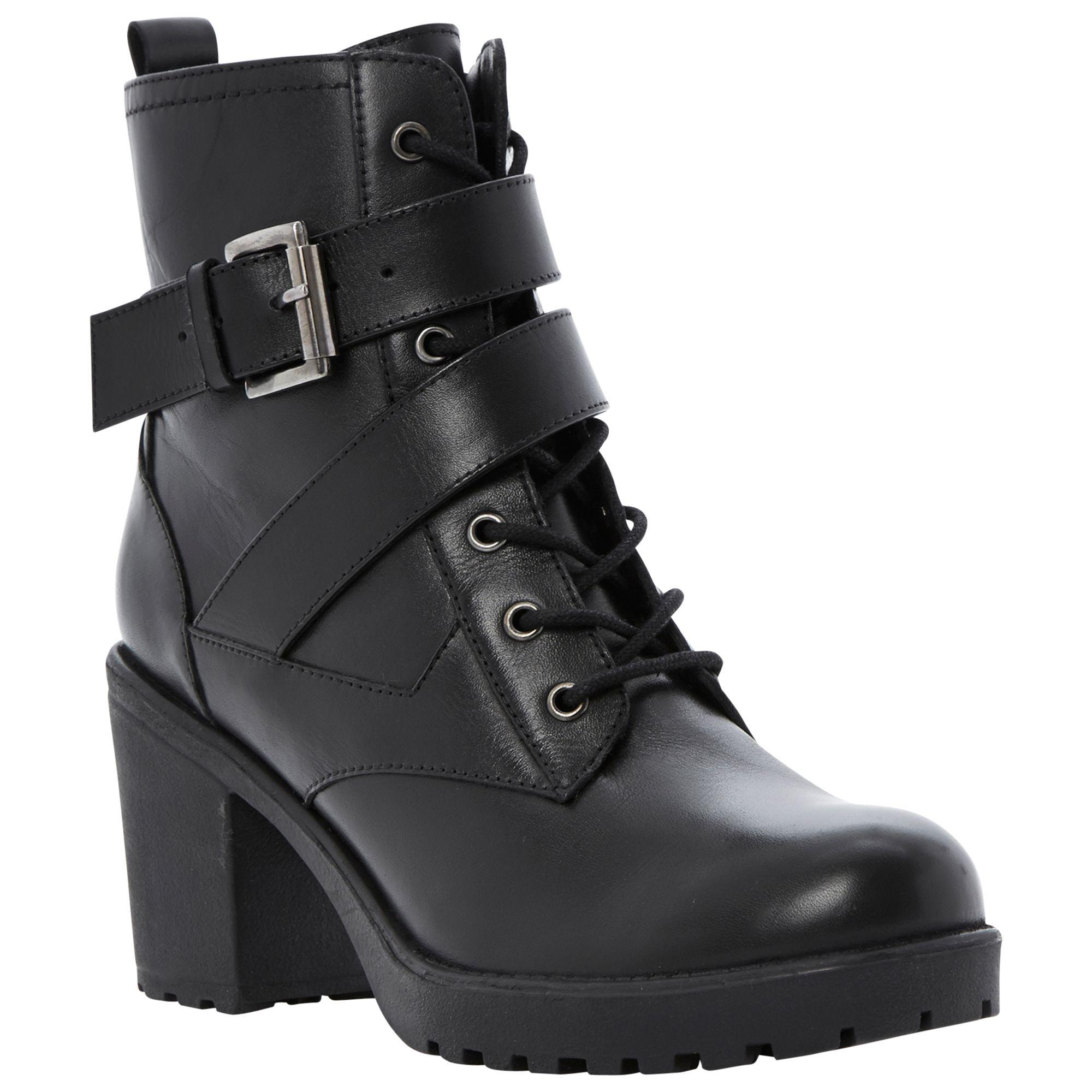 Dune Preeesha Leather Ankle Boots, Black