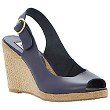 Buy Dune Gleeful Peep Toe Leather Wedge Sandals Online at johnlewis.com