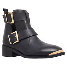 Buy KG by Kurt Geiger Saxon Leather Ankle Boots, Black Online at johnlewis.com