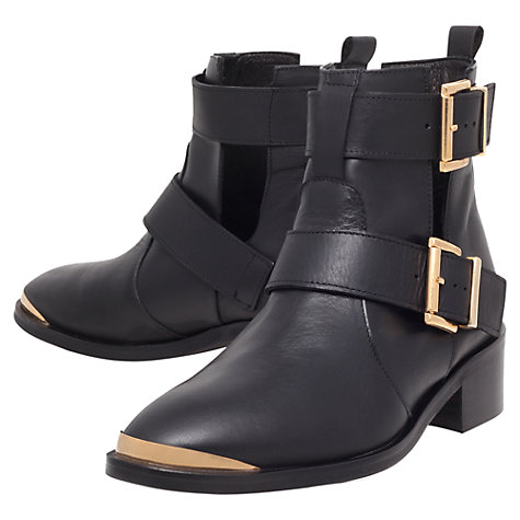 Buy KG by Kurt Geiger Saxon Ankle Boots, Black Online at johnlewis.com