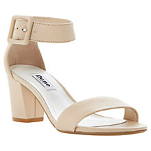 Buy Dune Fri Ankle Strap Buckle Mottled Heeled Leather Sandals, Blonde Online at johnlewis.com