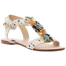 Buy Steve Madden Habtat-S Chunky Crystal Pony Hair Flat Sandals, Tan Pony Online at johnlewis.com