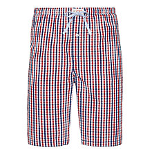 Buy Tommy Hilfiger Henry Gingham Print Pyjama Shorts, Navy/Red Online at johnlewis.com