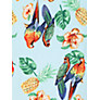 Buy Louche Bali Parrot Top, Blue Online at johnlewis.com