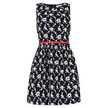 Buy Louche Floral Print Katia Dress, Navy Online at johnlewis.com