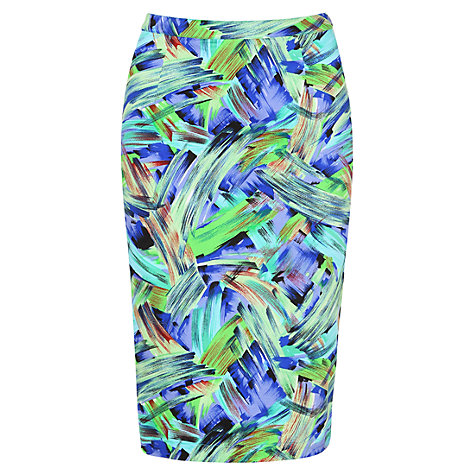 Buy Louche Abstract Skirt, Green/Blue Online at johnlewis.com