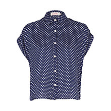 Buy Louche Polka Dot Top, Navy Online at johnlewis.com