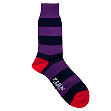 Buy Thomas Pink Striped Wool Rich Socks Online at johnlewis.com