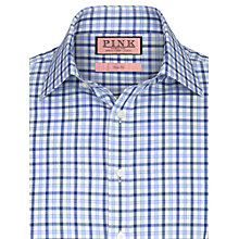 Buy Thomas Pink Tarquin Check Long Sleeve Shirt, Blue Online at johnlewis.com