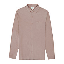 Buy Reiss Bowen Long Sleeve Jersey Shirt, Pink Online at johnlewis.com