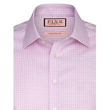Buy Thomas Pink Aiello Check Long Sleeve Shirt, Pink Online at johnlewis.com