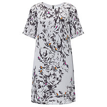 Buy COLLECTION by John Lewis Bird Print Silk Dress, Black Online at johnlewis.com