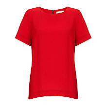 Buy COLLECTION by John Lewis Zip Back Crepe Top, Autumn Orange Online at johnlewis.com