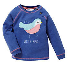 Buy John Lewis Bird Applique Jumper, Blue Online at johnlewis.com
