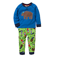 Buy John Lewis Woodland Pyjamas, Blue/Green Online at johnlewis.com