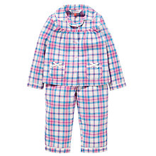 Buy John Lewis Tartan Print Pyjamas, Pink/Blue Online at johnlewis.com