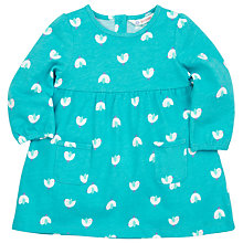 Buy John Lewis Bird Jersey Dress, Turquoise Online at johnlewis.com