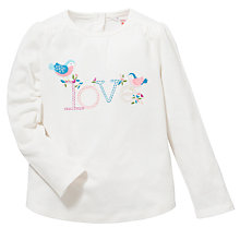 Buy John Lewis Birdy Love T-Shirt, Cream Online at johnlewis.com