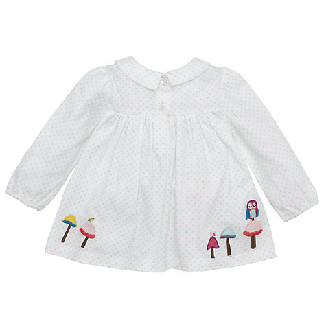 Buy John Lewis Spotty Jersey Top, White Online at johnlewis.com