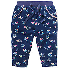 Buy John Lewis Birdie Corduroy Trousers, Navy/Multi Online at johnlewis.com