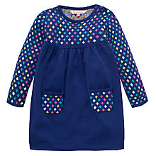 Buy John Lewis Knitted Diamond Jumper Dress, Navy Online at johnlewis.com
