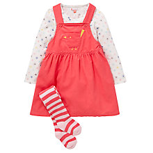 Buy John Lewis Corduroy Pinafore Outfit Set, Coral Online at johnlewis.com