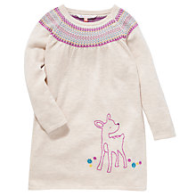 Buy John Lewis Fair Isle Detail Embroidered Dress, Cream/Multi Online at johnlewis.com