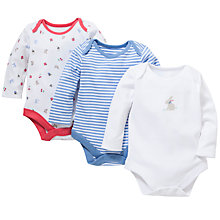 Buy John Lewis Rabbit and Toadstool Bodysuit, Pack of 3, White/Multi Online at johnlewis.com