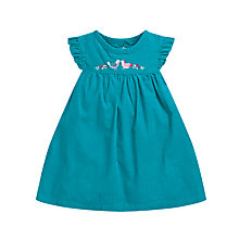 Buy John Lewis Cord Pini Dress, Teal Online at johnlewis.com