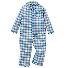 Buy John Lewis Check Pyjamas, Blue Online at johnlewis.com