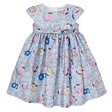 Buy John Lewis Illustrated Flower Print Dress, Multi Online at johnlewis.com
