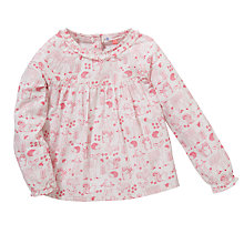 Buy John Lewis Woodland Print Top, Cream/Pink Online at johnlewis.com