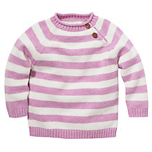 Buy John Lewis Stripe Jumper, Lilac/White Online at johnlewis.com