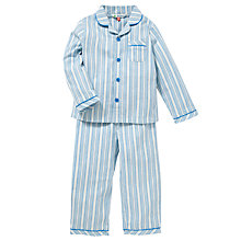 Buy John Lewis Stripe Pyjamas, Blue Online at johnlewis.com