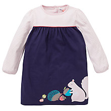 Buy John Lewis Contrast Stripe Dress, Navy/Pink Online at johnlewis.com