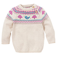 Buy John Lewis Toadstool Knit Jumper, Cream/Multi Online at johnlewis.com