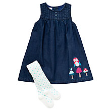 Buy John Lewis Chambray Dress & Tights, Blue Online at johnlewis.com