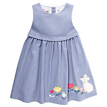 Buy John Lewis Lilac Cord Mouse Pinafore Dress, Blue/Multi Online at johnlewis.com