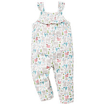 Buy John Lewis Woodland Print Dungarees, Multi Online at johnlewis.com
