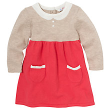 Buy John Lewis Tromp L'Oeil Knit Dress, Beige/Pink Online at johnlewis.com