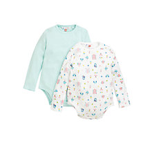 Buy John Lewis Woodland Jersey Bodysuits, Pack of 2, Multi Online at johnlewis.com