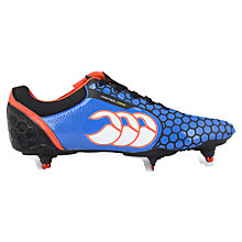 Buy Canterbury of New Zealand Children's Control Club 6 Stud Rugby Boots, Blue/Black Online at johnlewis.com
