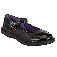 Buy Kickers Adler Patent Leather Shoes, Black Online at johnlewis.com