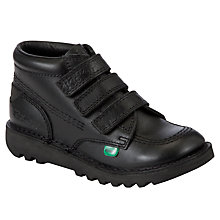 Buy Kickers Triple Strap Boots, Black Online at johnlewis.com