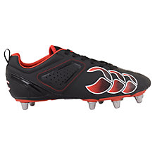 Buy Canterbury of New Zealand Children's Phoenix Club 6 Stud Rugby Boots, Black/Red Online at johnlewis.com