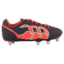 Buy Canterbury Children's Stampede 6 Stud Rugby Boots, Black/Red Online at johnlewis.com